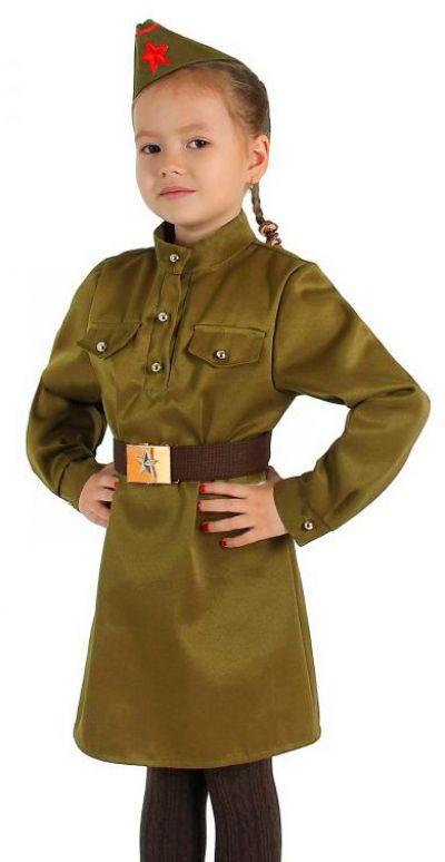 Военное платье для девочки
